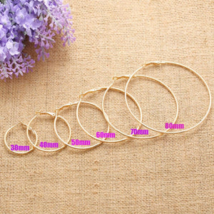 The Simple Hoop Earrings