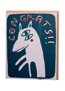 congrats dog card