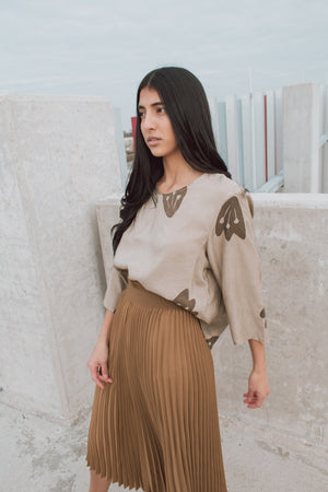 hana boxy crop top in Olive