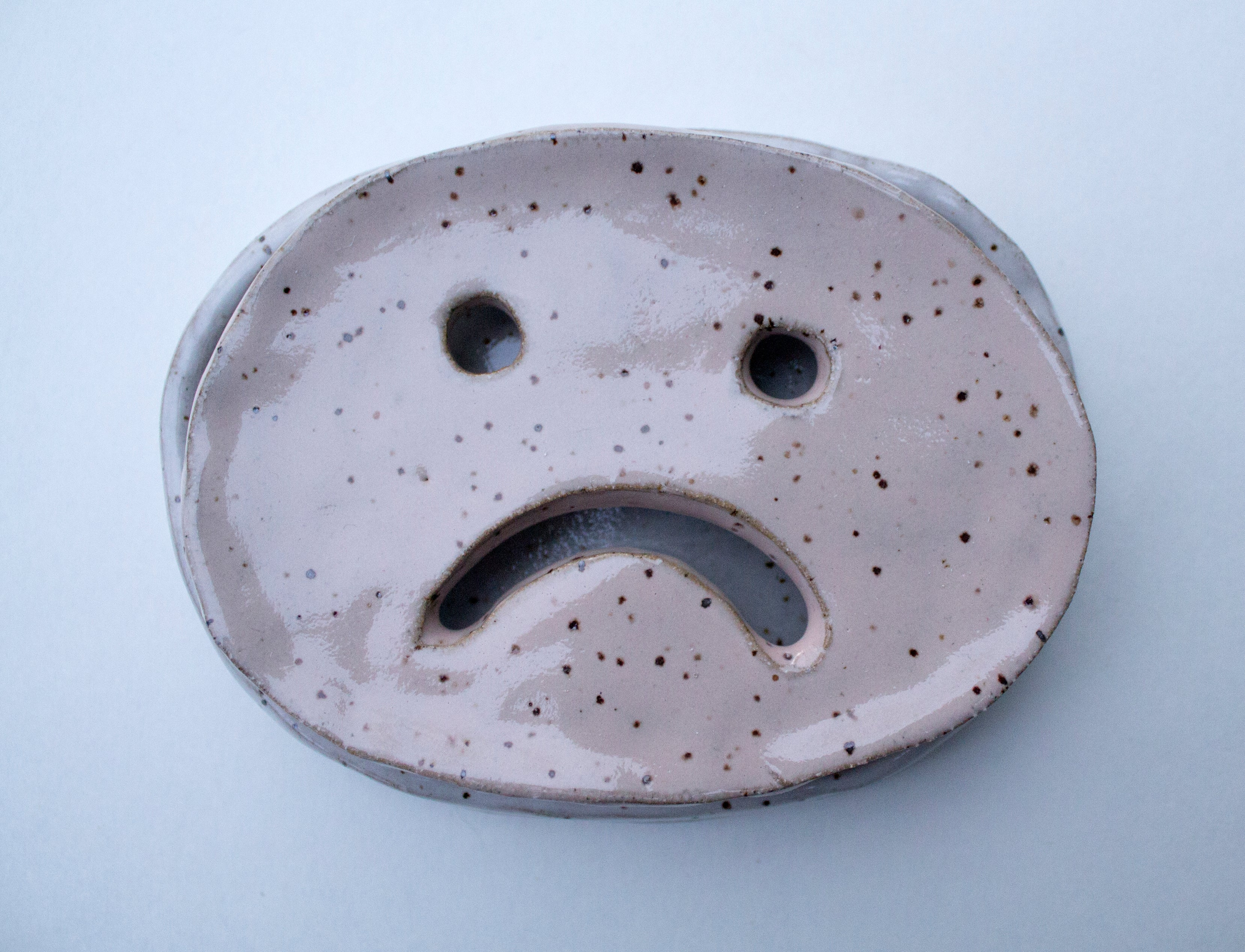 sad face soap dish