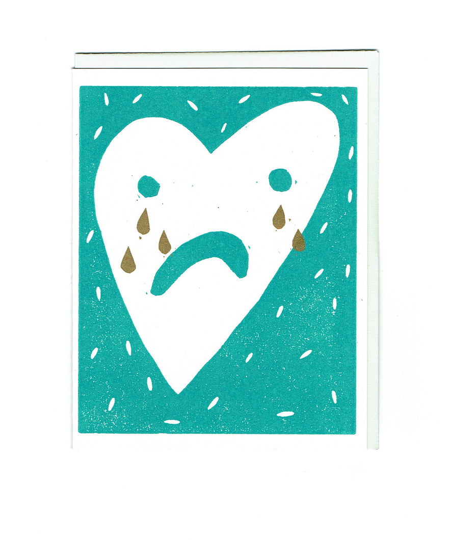 Crying Heart Card