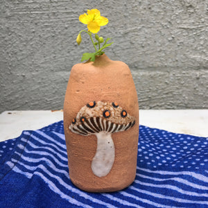 single flower mushroom vase