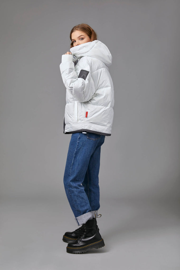 COCOON PUFFER IN WHITE