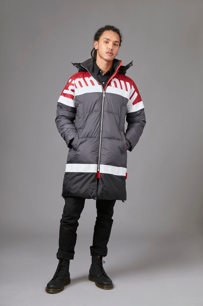 Color Block Puffer Parka