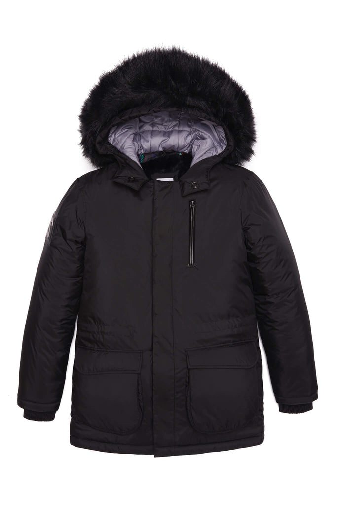 UTILITY PARKA IN BLACK FUR