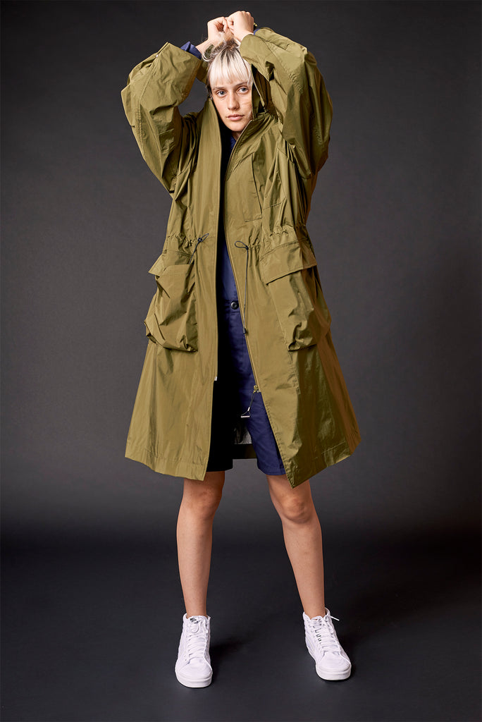 PACKABLE TRENCH IN CACTUS (SOLD OUT)