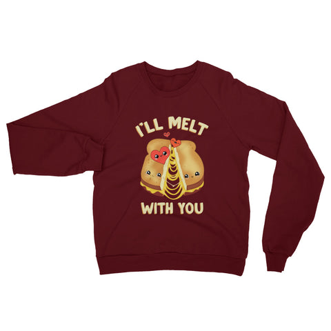 Melt With You Unisex California Fleece Raglan Sweatshirt - Shop Cait Straight Up