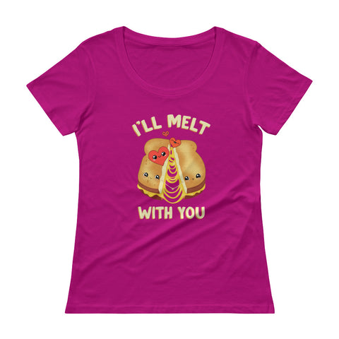 I'll Melt With You Ladies' Scoopneck T-Shirt - Shop Cait Straight Up