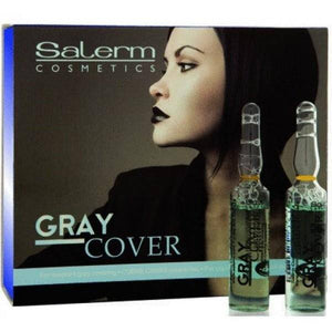 Salerm Gray Cover Treatment Amples 0.17oz - 12 Vials - Barber World