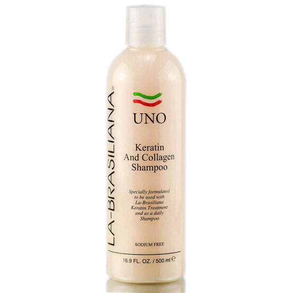 La-Brasiliana UNO Keratin and Collagen Shampoo - 8.45oz - Barber World