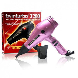 Turbo Power Twin Turbo 3200 Hair Dryer (Pink)
