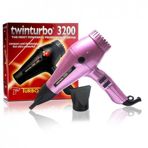 Turbo Power Twin Turbo 3200 Hair Dryer (Pink) - Barber World
