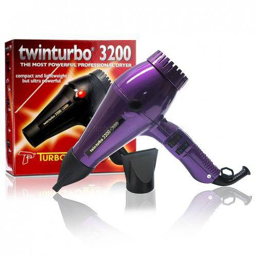 Turbo Power Twin Turbo 3200 Hair Dryer (Purple)