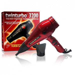 Turbo Power Twin Turbo 3200 Blow Dryer (Red)