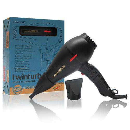 Parlux 3800 Ionic & Ceramic Dryer (Black) - Barber World