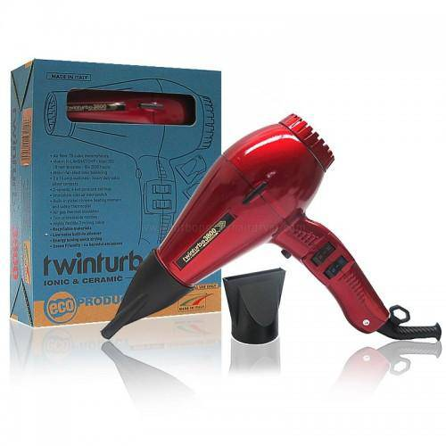 Turbo Power Twin Turbo 3800 Ionic & Ceramic Dryer (Red)