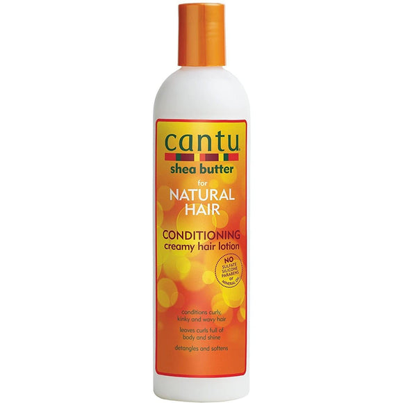 Cantu Shea Butter For Natural Hair Conditioning Creamy Hair Lotion - 12oz - Barber World