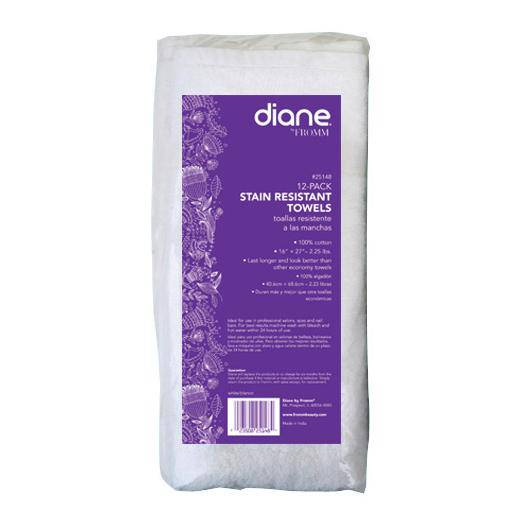 Diane Stain Resistant Towels - 12-Pack White - Barber World