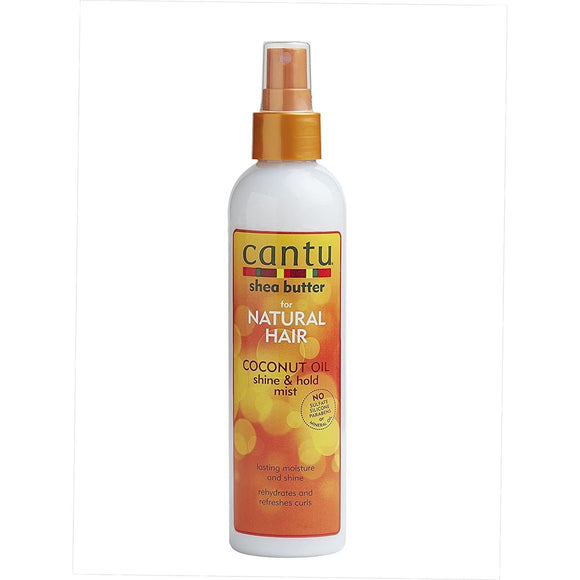 Cantu Shea Butter For Natural Hair Coconut Oil Shine & Hold Mist - 8oz - Barber World