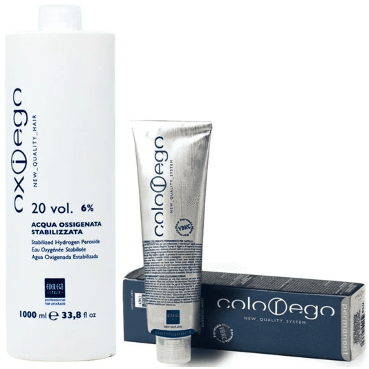 Alter Ego Color Ego Permanent Coloring Cream + Oxiego Stabilized Hydrogen Peroxide Vol 20 - 33.8oz