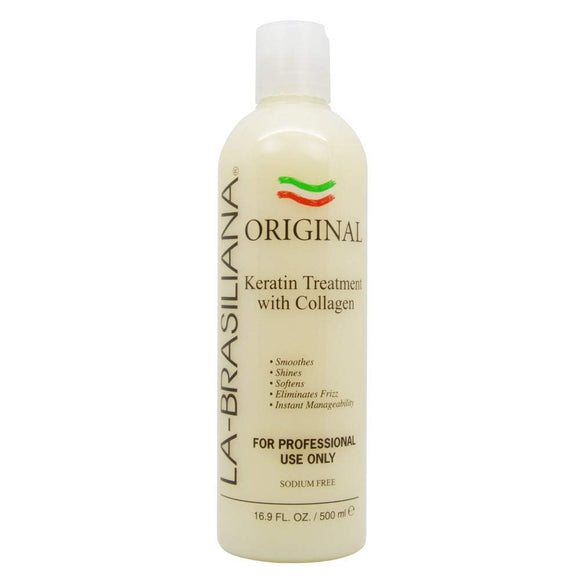 La-Brasiliana Original Keratin Treatment With Collagen - 16.9oz