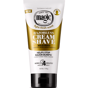 Magic Razorless Cream Shave Bald Head 6oz - Barber World