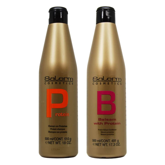 Salerm Protein Shampoo + Balsam Conditioner Set