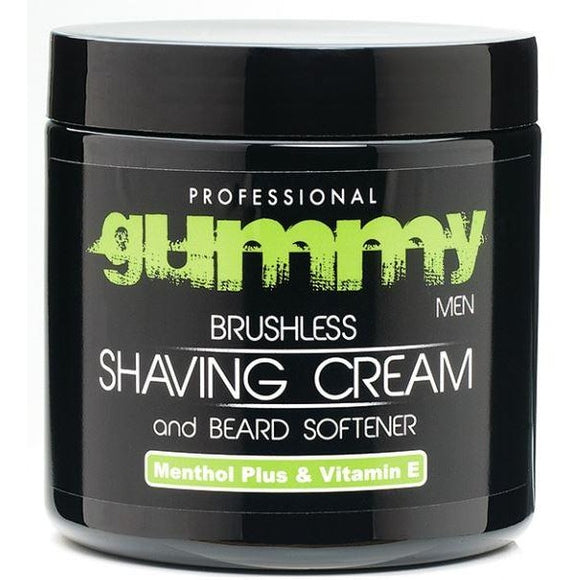 Gummy Brushless Shaving Cream with Vitamin E and Menthol Plus