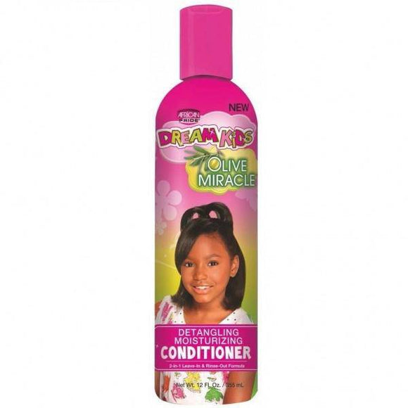 African Pride Dream Kids Olive Miracle Detangling Moisturizing Conditioner - 12oz
