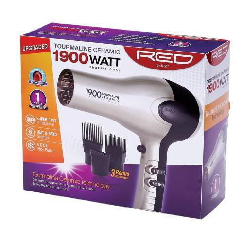 Red by Kiss 1900 Tourmaline Blow Dryer