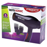 Red by Kiss 1875 Ceramic Ionic Blow Dryer