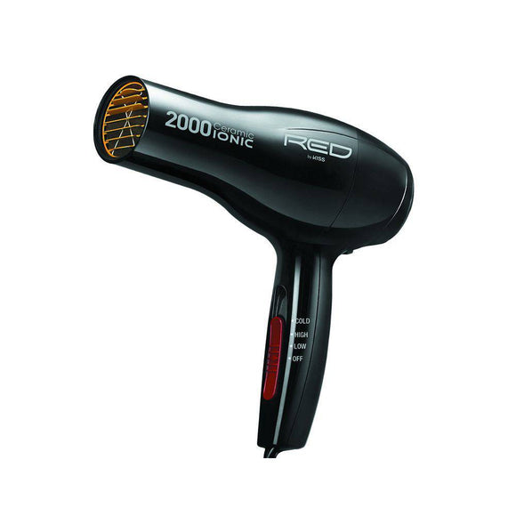 Red by Kiss 2000 Ceramic Ionic Blow Dryer - Barber World