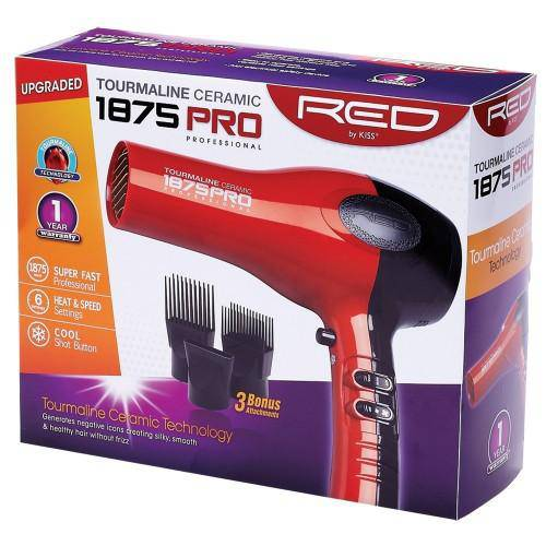 Red by Kiss 1875 Ceramic Tourmaline Blow Dryer