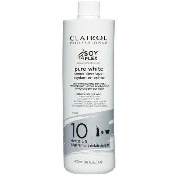Clairol Soy 4 Plex Pure White Creme Developer 10 Volume - 16oz - Barber World