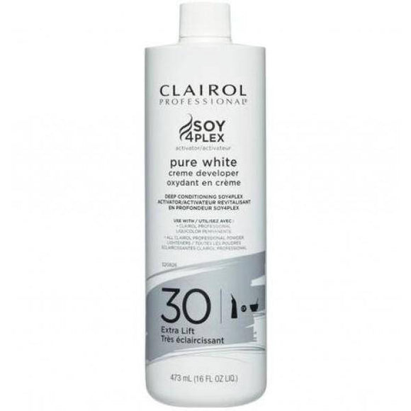Clairol Soy 4 Plex Pure White Creme Developer 30 Volume - 16oz - Barber World
