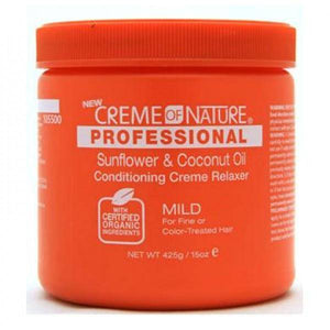 Creme of Nature Professional Sunflower & Coconut Oil Conditioning Creme Relaxer Mild - 15oz