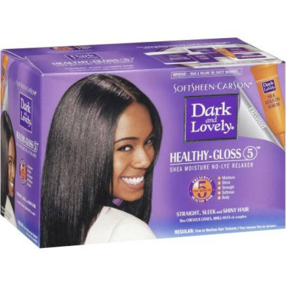 Dark and Lovely Healthy-Gloss 5 No-Lye Relaxer Regular - 1 Application