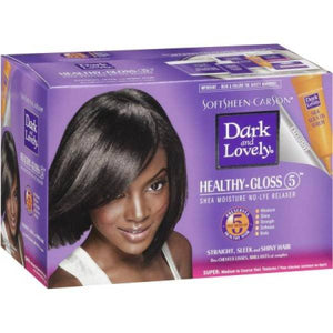 Dark and Lovely Healthy-Gloss 5 No-Lye Relaxer Super - 1 Application - Barber World