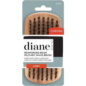 Diane Curved Reinforced Boar Military Brush - Hard #D1000 - Barber World