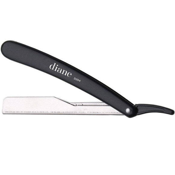 Diane Classic Straight Razor Included 2 Blades Black - #D204