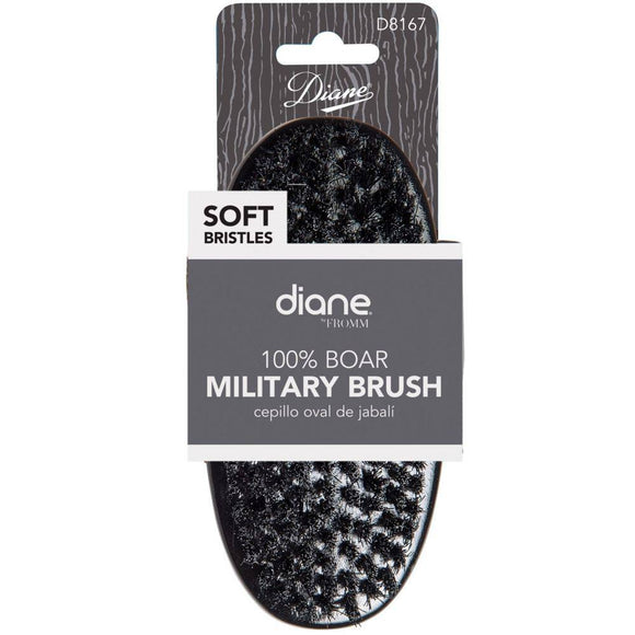 Diane 100% Boar Military Wave Brush - Soft #D8167 - Barber World
