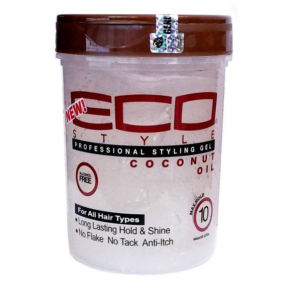 Eco Style Professional Coconut Oil Styling Gel - 32oz - Barber World