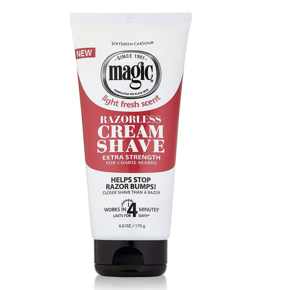 Magic Razorless Cream Shave Extra Strength - 6oz - Barber World