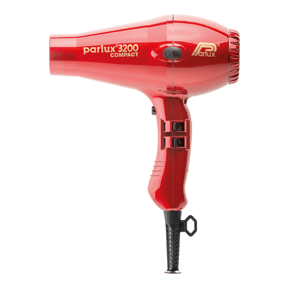 Parlux 3200 Compact Hair Dryer (Red) - Barber World