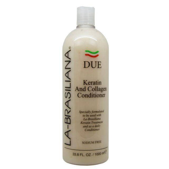 La-Brasiliana DUE Keratin and Collagen Conditioner - 33.8oz