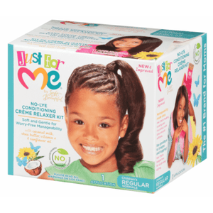 Just For Me No-Lye Conditioning Creme Relaxer Kit Children's Regular - 1 Application - Barber World