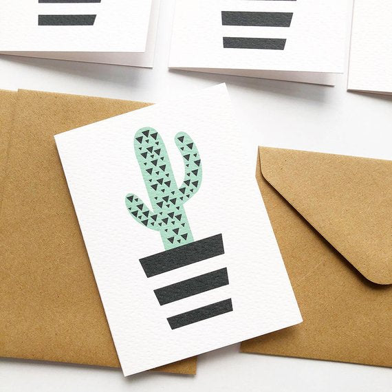 Mini Blank Gift Card | Cactus