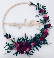 Christmas Wreath - 'Merry Christmas' - Love Bradbury