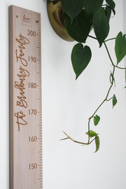 Personalised height chart with Madina Script font