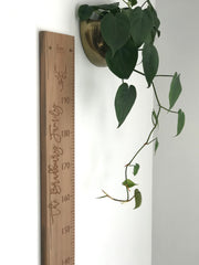 Stag Head personal height chart in natural recycled rimu